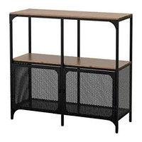 Стеллаж ФЬЕЛЛЬБО черный ИКЕА, IKEA, фото 1