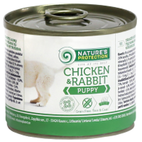 Влажный корм для щенков Nature's Protection Puppy Chicken & Rabbit с курицей и кроликом