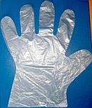 Перчатки одноразовые п/эт M 100 шт/уп, фото 3