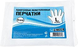 Перчатки одноразовые п/эт L 80 шт/уп