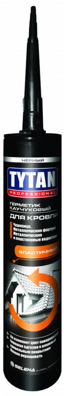 Герметик для ремонта кровли каучуковый черный 310мл TYTAN