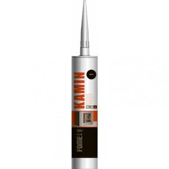 Герметик жаростойкий черный 310мл Kamin 1500C Fome Flex