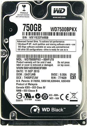 WD Жесткий диск для ноутбука WD7500BPKX, фото 2