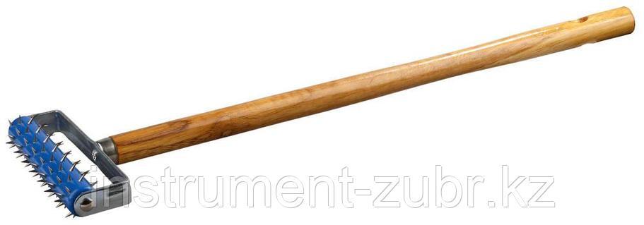 Валик игольчатый STAYER для гипсокартона в сборе, металлические иглы, ручка 500мм, 32х150мм                             , фото 2