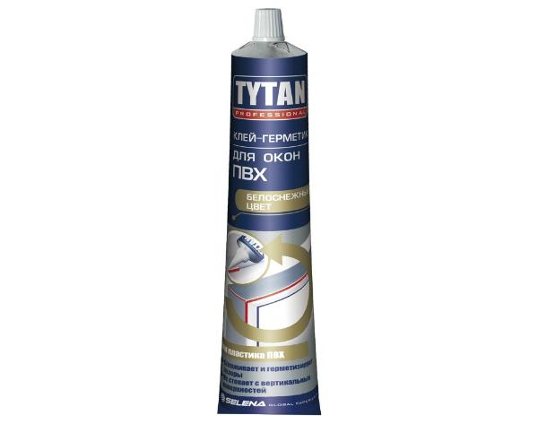 Клей-Герметик для пластиковых окон ПВХ TYTAN белый 200г