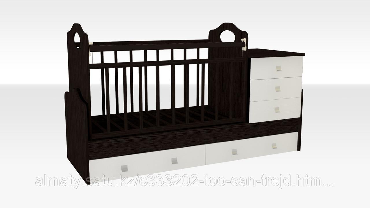 Детская кровать - трансформер ВДК Felicita, венге-беж