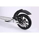 Самокат городской Urban Scooter 200 с ручным дисковым тормозом, черный, фото 3