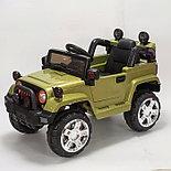 Электромобиль Jeep Wrangler FB-716 (пластик), хаки, фото 2