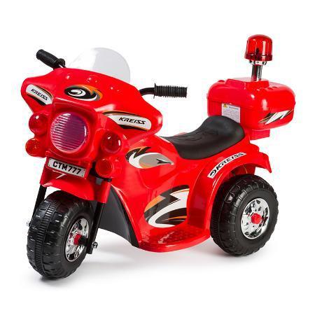 Детский электромотоцикл Полиция, красный
