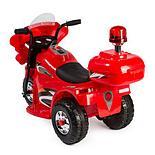Детский электромотоцикл Полиция, красный, фото 2