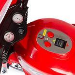 Детский электромотоцикл Полиция, красный, фото 3