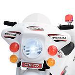 Детский электромотоцикл Полиция, белый, фото 2