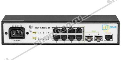 Управляемый коммутатор уровня 2 SNR-S2965-8T-RPS