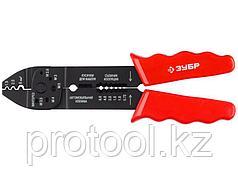Электропассатижи, съемник 0.8 - 2.6 мм, кусачки, обжим наконечников, винторез, 230 мм, ЗУБР