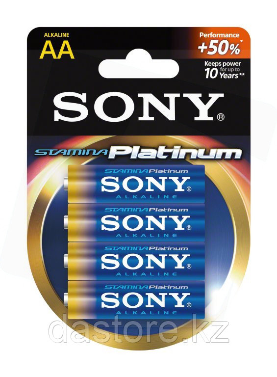 Sony Plat AA(LR3*4шт) AM4PT-B4D Батарейки 4 штуки блистер