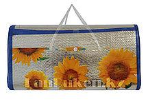 Пляжный соломенный коврик-сумка с Фольгой покрытием 170* 120 см (складной)
