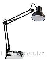 Светильник лампа настольный на струбцине (черный)