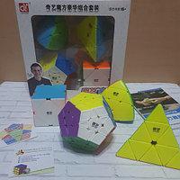 Подарочный набор головоломок QiYi MoFangGe Non-Cubic Gift Box Мегаминкс-Пирамидка-Мастерморфикс-Скьюб