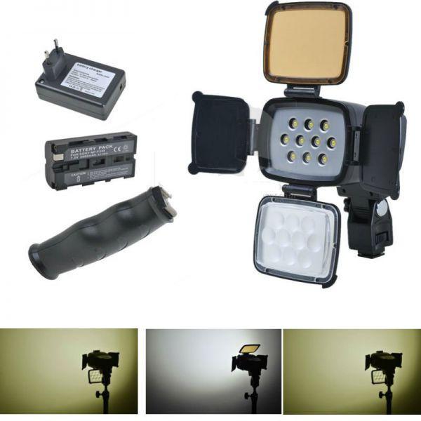 Накамерный прожектор LED 5012 c + аккумулятор + зарядка
