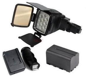 Накамерный прожектор LED 5012 c + аккумулятор + зарядка, фото 2
