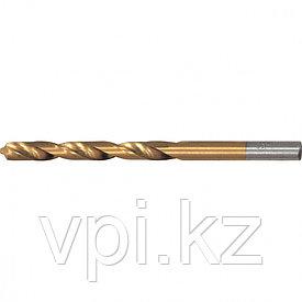 Сверло по металлу, нитридтитановое покрытие, HSS, 3мм, Matrix