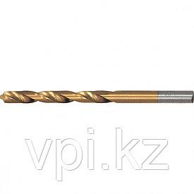 Сверло по металлу, нитридтитановое покрытие, HSS, 3.5мм, Matrix