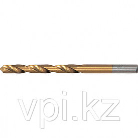 Сверло по металлу, нитридтитановое покрытие, HSS,  4мм, Matrix