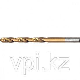 Сверло по металлу, нитридтитановое покрытие, HSS,  5мм, Matrix