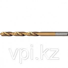 Сверло по металлу, нитридтитановое покрытие, HSS,  6мм, Matrix