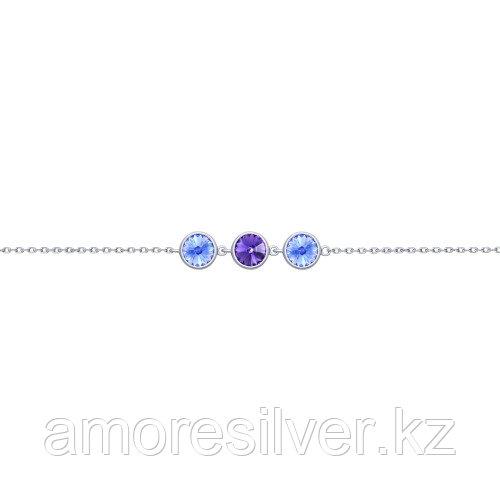 Браслет SOKOLOV серебро с родием, кристалл swarovski 94050432