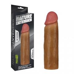 Насадка для увеличения пениса 16.5 Х 4.5 (супер реалистичная) тёмный