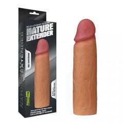Насадка для увеличения пениса 16.5 Х 4.5 (супер реалистичная) светлый