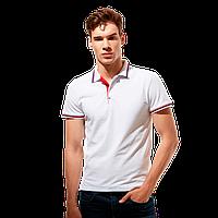 Стильная рубашка поло , StanSalute, 05RUS, Белый (10), XL/52