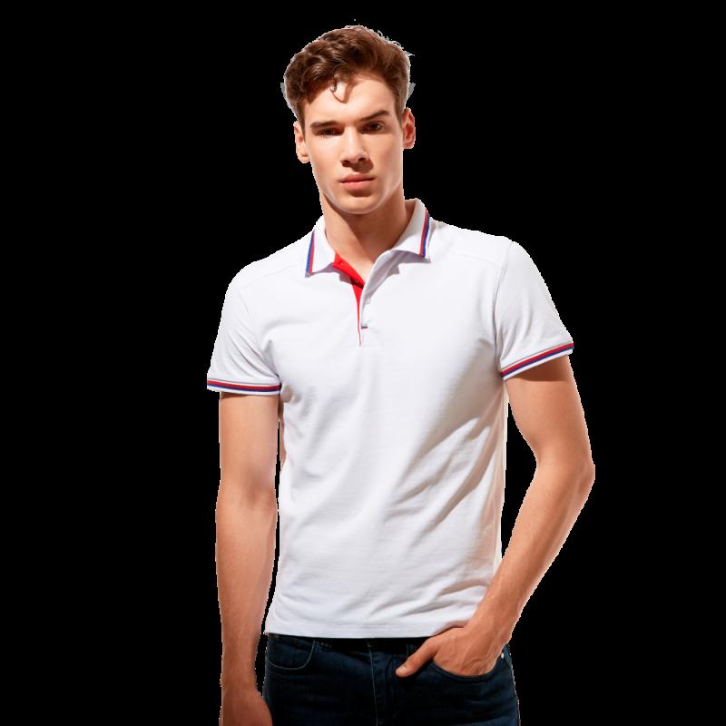 Стильная рубашка поло , StanSalute, 05RUS, Белый (10), S/46