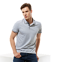 Стильная рубашка поло , StanSalute, 05RUS, Серый меланж (50), 3XS/40