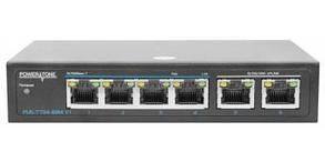 PoE коммутатор неуправляемый PUS-TT04-60M v1, 4x10/100BASE-TX 802.3af&at + 2x10/100/1000BASE-TX