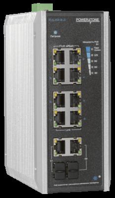 PoE коммутатор неуправляемый PUS-CC08-120i, 8x10/100BASE-TX 802.3af&at + 2хGb Combo, порт №2 до 60Вт