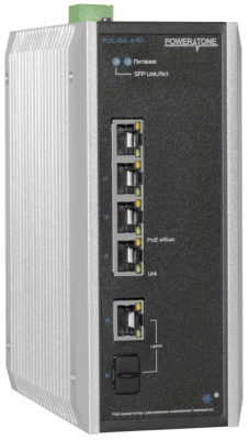 Уличный PoE коммутатор PUS-154-4-1Vi 4 10/100BASE-TX 802.3af&at+ 1 10/100BASE-TX+ 1 100BASE-X