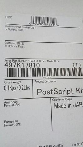 XEROX 497K17810 Печать PostScript для VersaLink B7035, фото 2