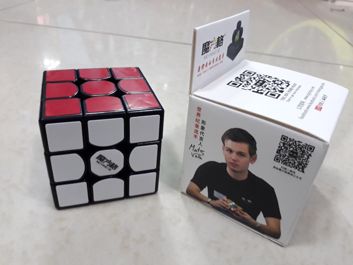 Кубик Рубика 3 на 3 MofangGe Thunderclap в черном пластике
