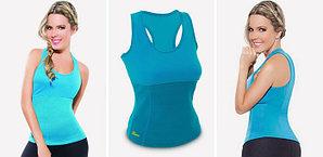 Майка для фитнеса Hot Shapers - размер М, цвет голубой