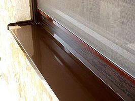 Отливы металлические коричневые