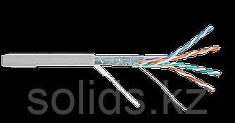 Кабель FTP 4 пары, Кат.5e, одножильный, медный, 0,50мм, внутренний, PVC, серый, 305м, шт