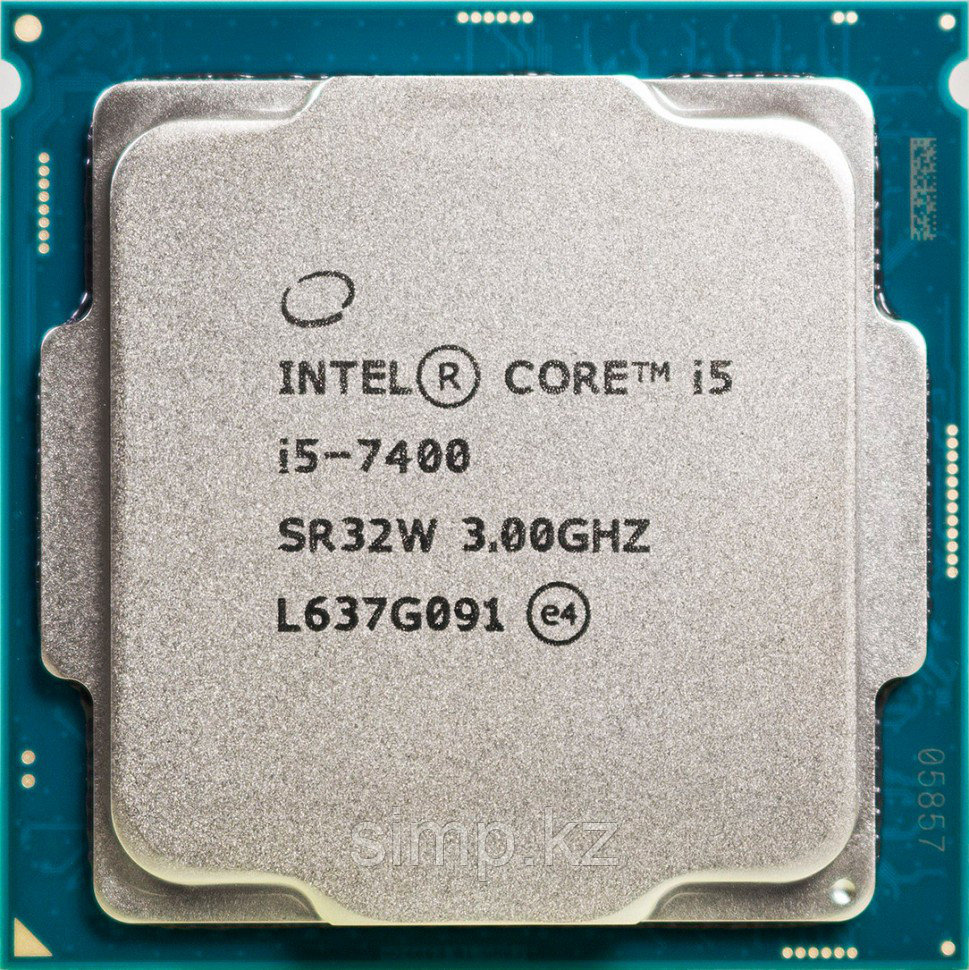 Intel 1151 Core i5-7400 Core/Threads 4/4, Cache 6M, Frequency 3.00/3.50 GHz