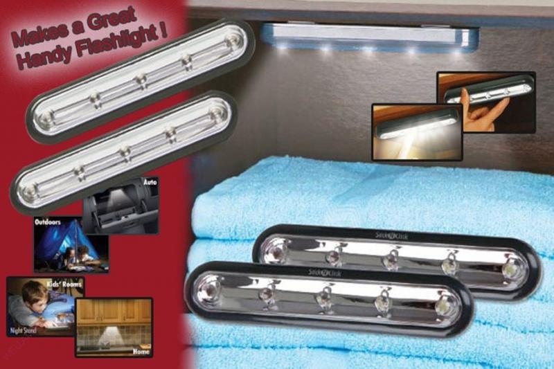 Беспроводные самоклеющиеся светильники Стик энд Клик