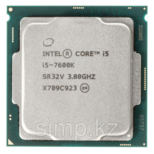 Intel 1151 Core i5-7600K Core/Threads 4/4, Cache 6M, Frequency 3.80/4.20 GHz