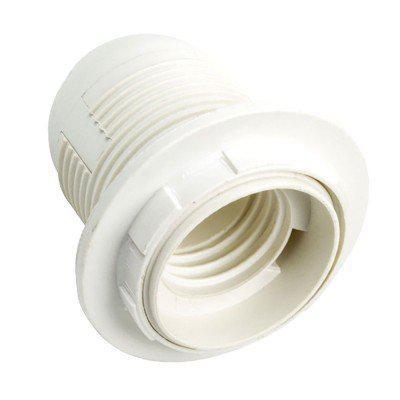Патрон карболитовый E27 белый