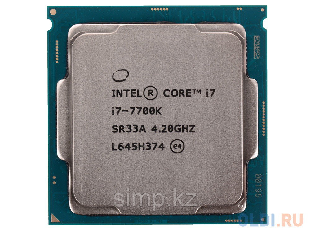 Intel 1151 Core i7-7700K Core/Threads 4/8, Cache 8M, Frequency 4.20/4.50 GHz
