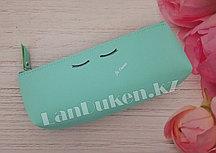 Школьный пенал надпись бирюзовый