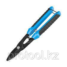 СИБИН Ножницы по металлу, прямые, с пружиной, 250 мм
